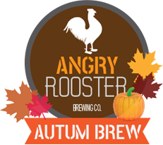 angry rooster autumn brew product logo