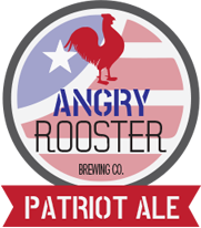 angry rooster patriot ale product logo